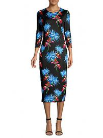 Diane von Furstenberg - Saihana Floral-Print Silk Midi Dress at Saks Off 5th