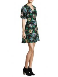 Diane von Furstenberg - Short-Sleeve Flare Mini Printed Dress at Saks Off 5th