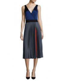 Diane von Furstenberg - Sleeveless Pleated Wrap Dress at Saks Off 5th