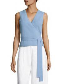 Diane von Furstenberg - Sleeveless Wrap Sweater at Saks Fifth Avenue