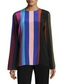 Diane von Furstenberg - Striped Silk Blouse at Saks Fifth Avenue