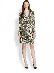 Diane von Furstenberg - T72 Printed Silk Wrap Dress at Saks Fifth Avenue