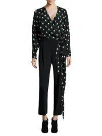 Diane von Furstenberg - V-Neck Silk Wrap Blouse at Saks Fifth Avenue