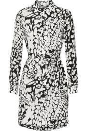 Diane von Furstenberg  Prita printed silk crepe de chine dress at Net A Porter