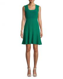 Diane von Furstenberg Adi Ribbed Sleeveless Short Dress at Neiman Marcus
