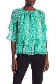 Diane von Furstenberg Annabel silk ruffle blouse at Nordstrom Rack