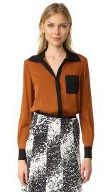 Diane von Furstenberg Carter Silk Blouse at Shopbop