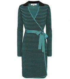 Diane von Furstenberg Checked Wrap Dress at Mytheresa