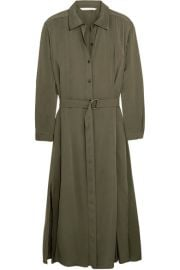 Diane von Furstenberg Clarise silk-blend shirt dress at Net A Porter