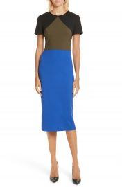 Diane von Furstenberg Colorblock Tailored Midi Dress at Nordstrom