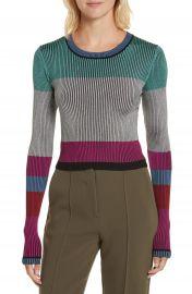 Diane von Furstenberg Cropped Plaited Pullover at Nordstrom