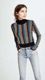 Diane von Furstenberg Cropped Turtleneck Pullover at Shopbop
