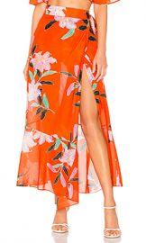 Diane von Furstenberg Draped Wrap Beach Skirt in Argos Clementine from Revolve com at Revolve