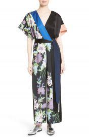 Diane von Furstenberg Faux Wrap Silk Jumpsuit at Nordstrom