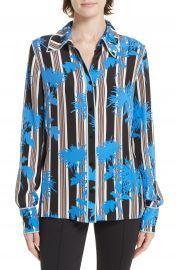Diane von Furstenberg Floral Print Silk Shirt at Nordstrom