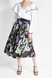 Diane von Furstenberg Floral Silk Skirt at Stylebop