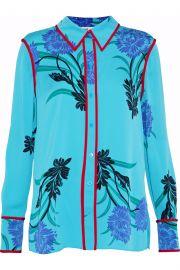 Diane von Furstenberg Floral-print silk-blend shirt at The Outnet