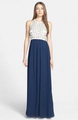 Diane von Furstenberg Gidget Embellished Silk Gown at Nordstrom