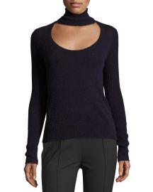 Diane von Furstenberg Gracey Cutout Turtleneck Sweater  Royal Navy at Neiman Marcus