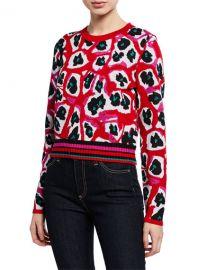 Diane von Furstenberg Harrison Crewneck Wool Pullover Sweater at Neiman Marcus
