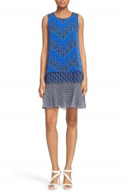 Diane von Furstenberg Liza Mix Print Tiered Silk Drop Waist Dress at Nordstrom