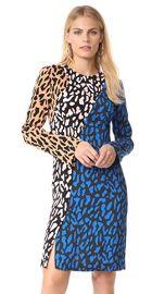 Diane von Furstenberg Long Sleeve Bias Fitted Dress at Shopbop