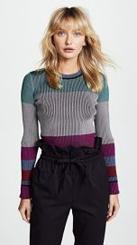Diane von Furstenberg Long Sleeve Cropped Plaited Pullover at Shopbop