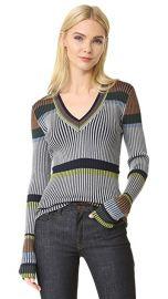 Diane von Furstenberg Long Sleeve V Neck Sweater at Shopbop