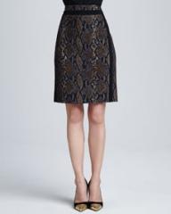 Diane von Furstenberg Marta Python-Print Pencil Skirt at Neiman Marcus