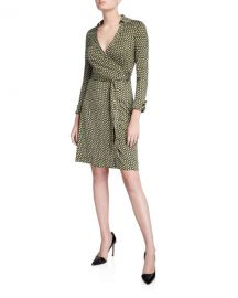 Diane von Furstenberg New Jeanne Two Geo-Print Wrap Dress at Neiman Marcus