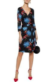 Diane von Furstenberg New Julian printed silk-jersey wrap dress at The Outnet