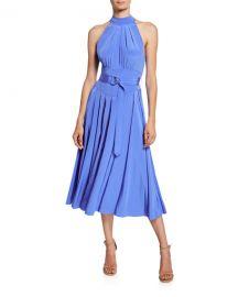 Diane von Furstenberg Nicola Silk Midi Halter Dress at Neiman Marcus