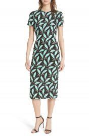 Diane von Furstenberg Print Body-Con Midi Dress at Nordstrom
