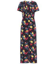 Diane von Furstenberg Printed silk jumpsuit at Mytheresa