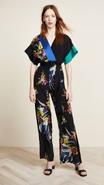 Diane von Furstenberg Short Sleeve Jumpsuit at Shopbop