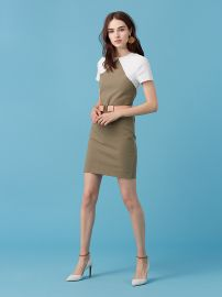 Diane von Furstenberg Short Sleeve Tailored Shift Dress at DVF