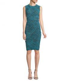 Diane von Furstenberg Sleeveless Ruched Mesh Dress   Neiman at Neiman Marcus