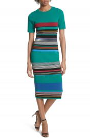 Diane von Furstenberg Stripe Short Sleeve Sweater Dress at Nordstrom