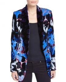 Diane von Furstenberg Tommy Velvet Floral Single-Button Blazer at Neiman Marcus