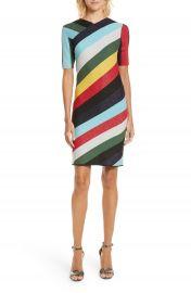 Diane von Furstenberg V-Neck Metallic Dress at Nordstrom
