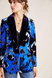 Diane von Furstenberg Velvet Tommy Blazer at Anthropologie