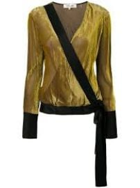 Diane von Furstenberg Velvet Wrap Top at Farfetch