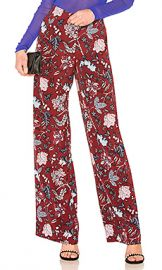 Diane von Furstenberg Wide Leg Pant in Canton Bordeaux from Revolve com at Revolve
