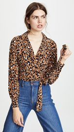 Diane von Furstenberg Wrap Blouse at Shopbop