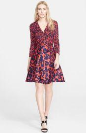 Diane von Furstenberg and39Ameliaand39 Print Cotton andamp Silk Wrap Dress at Nordstrom