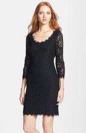 Diane von Furstenberg and39Zaritaand39 Lace Scoop Dress at Nordstrom