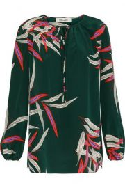 Diane von Furstenberg printed blouse at The Outnet