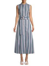 Diane von furstenberg stripe belted dress at Saks Off 5th