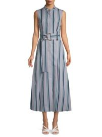 Diane von furstenberg stripe belted dress at Saks Off 5th