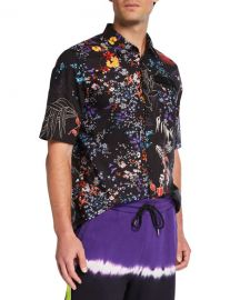 Diesel Men  x27 s Graphic Floral Short-Sleeve Sport Shirt at Neiman Marcus